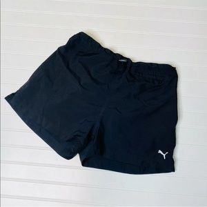 Puma Black Drawstring Track Shorts